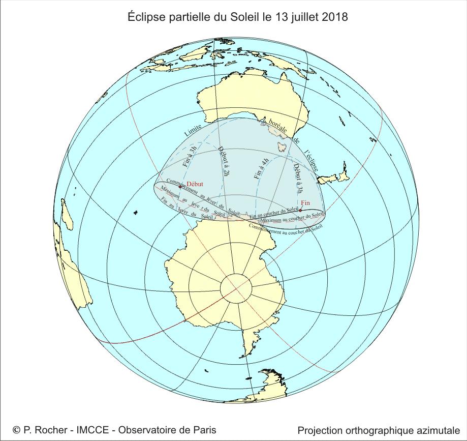 Eclipse du 13 juillet 2018